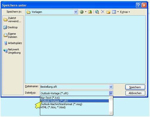 Im Outlook eine E-Mail-Vorlage anlegen - Zeitblüten