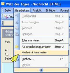 outlook manipulieren