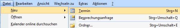 Outlook-Termin anlegen