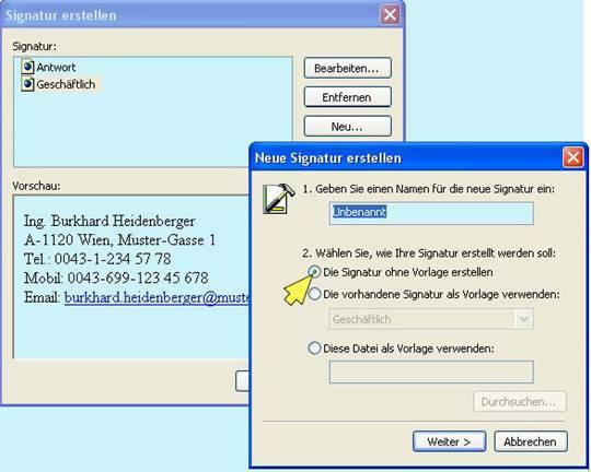 Outlook signaturen