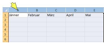 Excel Spalten Breite anpassen
