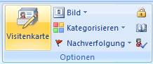 outlook visitenkarten