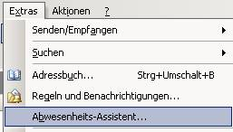 abwesenheitsassistent outlook