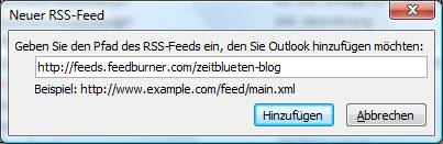 outlook 2007 rss