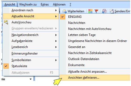 ansicht outlook