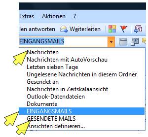 ansichten outlook