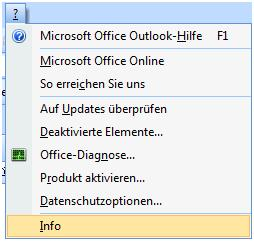 outlook version