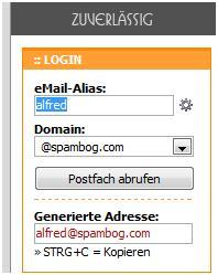 spam wegwerfadresse