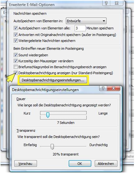 desktopbenachrichtigung deaktivieren