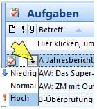 outlook prioritäten