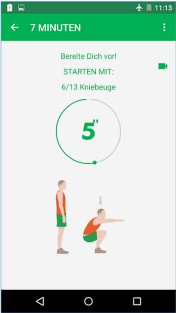 7-Minuten-Training-App
