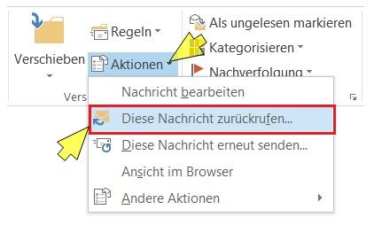 gmail e mail zurückrufen