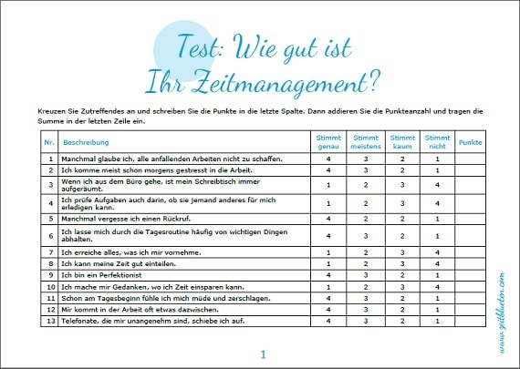 Zeitmanagement-Test