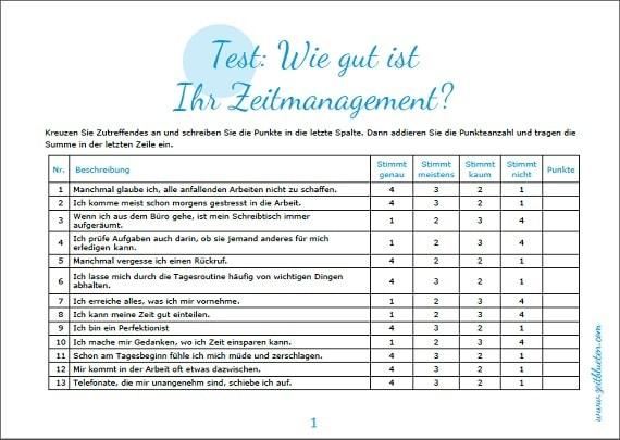 Test Wie Gut Ist Ihr Zeitmanagement Zeitbl 252 Ten